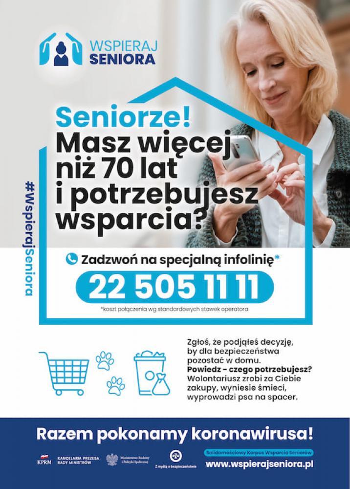 wspieraj seniora - plakat