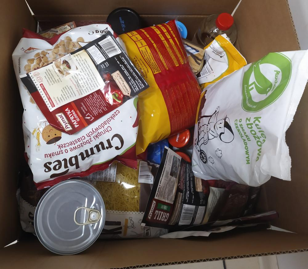 paczki żywnościowe