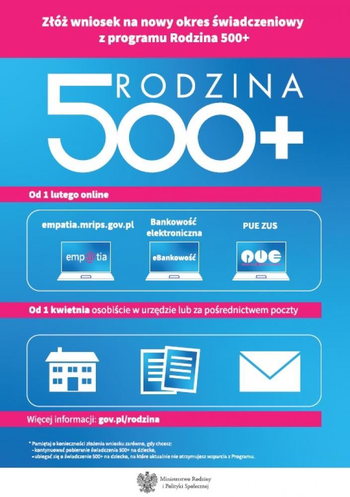 Plakat 500 plus