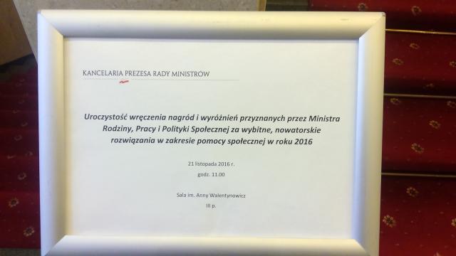 Pracownik Socjalny OPS w Górze laureatem nagrody indywidulanej w zakresie pomocy społecznej