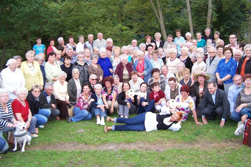 Spotkanie grodziskich seniorów z przyjaciółmi z Pniew.