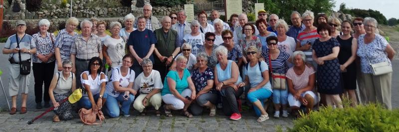 Wycieczka seniorów do Łagowa z przewodnikiem