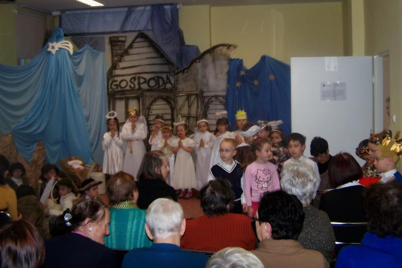 Jasełka  Przedszkolaków dla seniorów z Domu Dziennego Pobytu w  Promessie