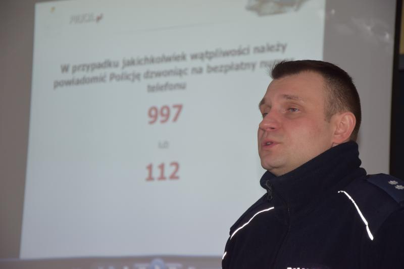 Spotkanie z podkomisarzem KPP Kamilem Sikorskim
