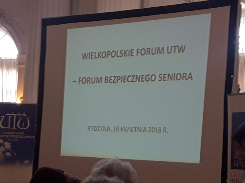 Wielkopolskie Forum UTW w Rydzynie