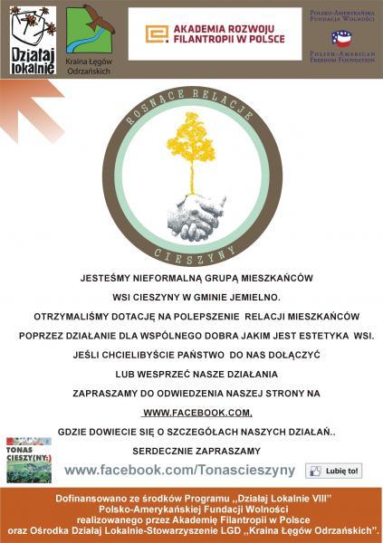 Grupa nieformalna  mieszkańców Cieszyn: TO NAS CIESZY (ny)