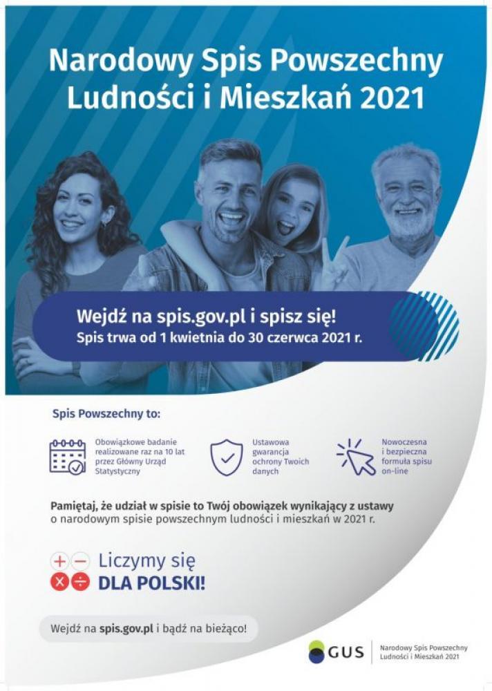 Plakat Narodowy Spis Powszechny 2021