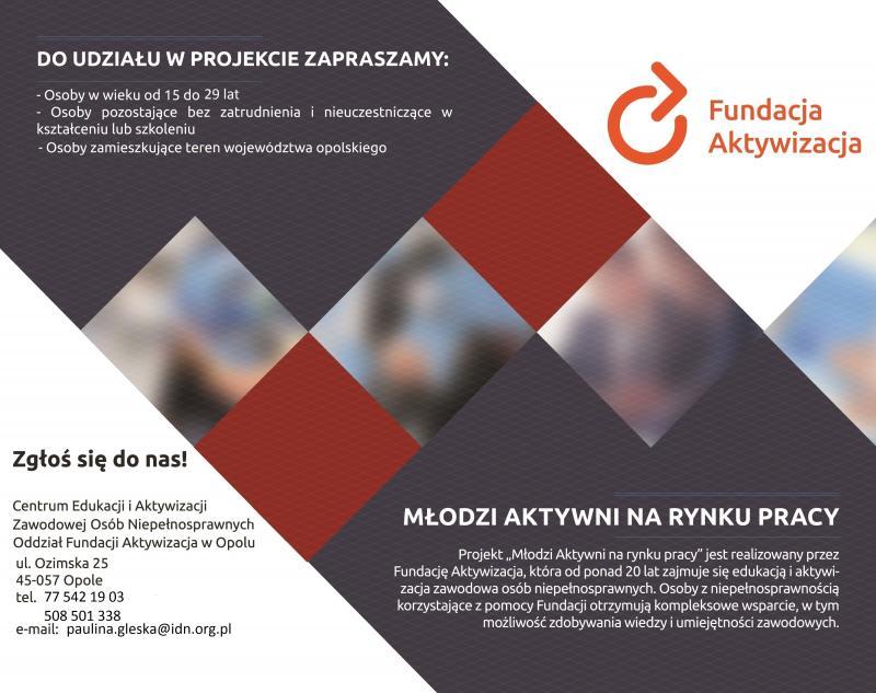 Fundacja Aktywizacja zaprasza do udziału w projekcie