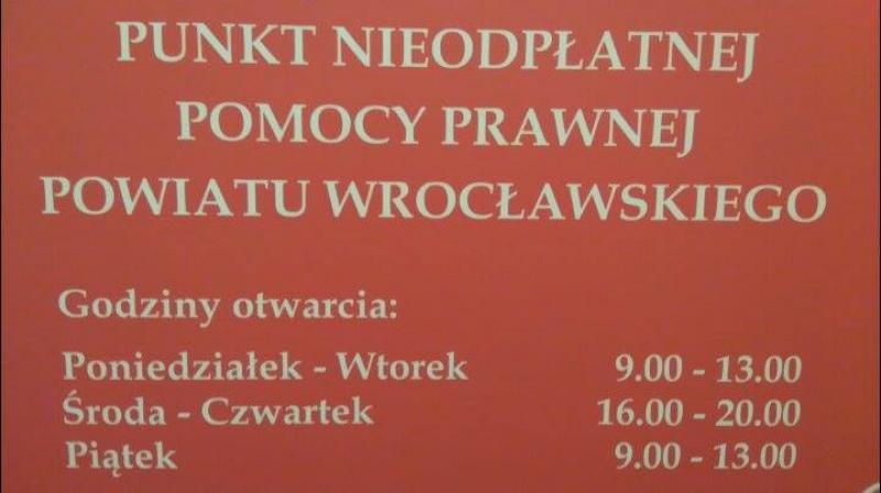 Punkt nieodpłatnej pomocy prawnej powiatu wrocławskiego