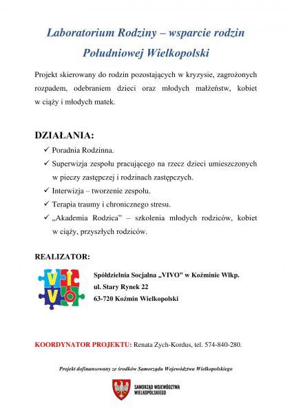 Laboratorium Rodziny - wsparcie rodzin Południowej Wielkopolski