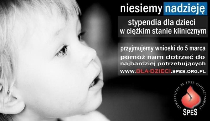 PROGRAM POMOCY DZIECIOM - stypendia dla dzieci w ciężkim stanie klinicznym