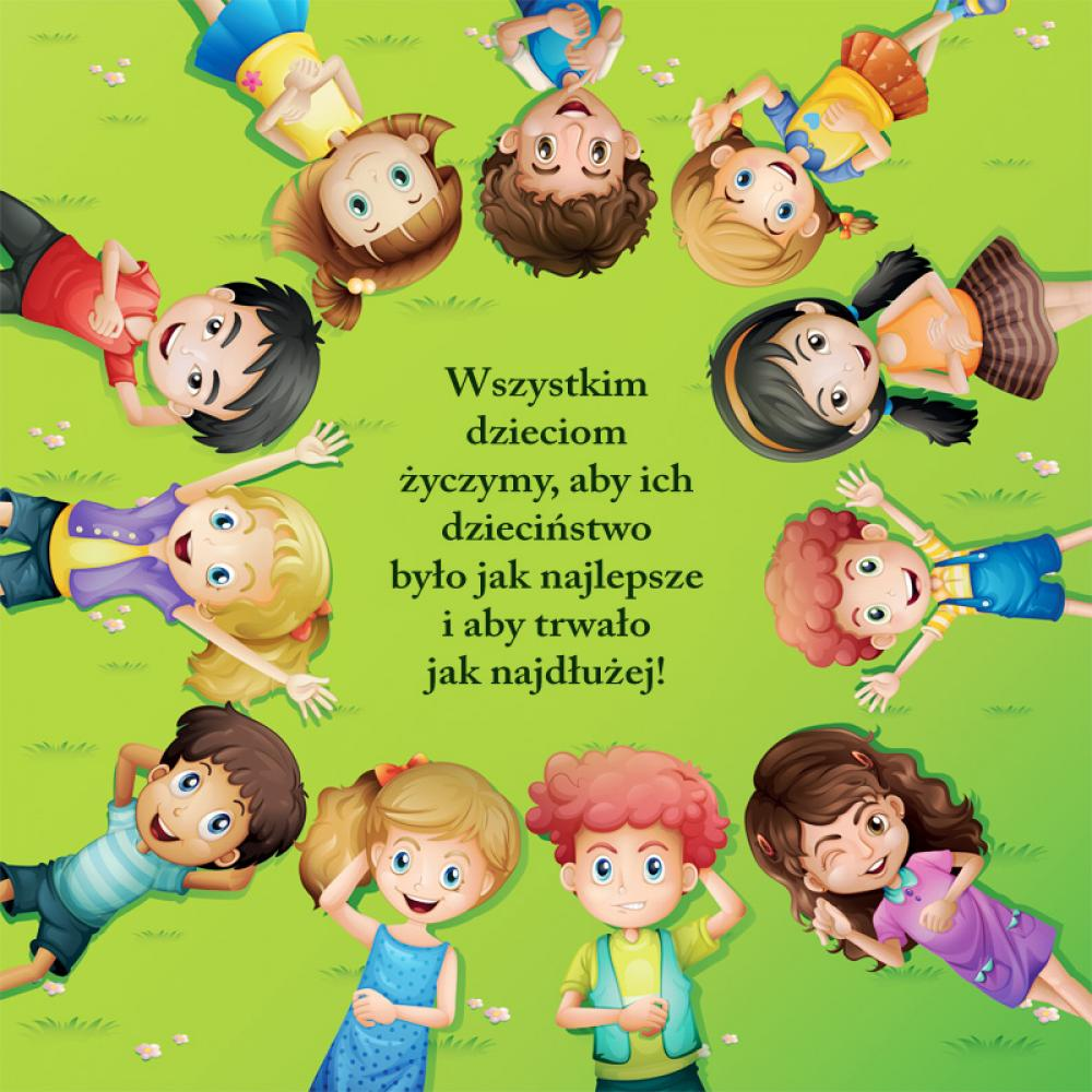 plakat dzieci z życzeniami z okazji  dnia dziecka