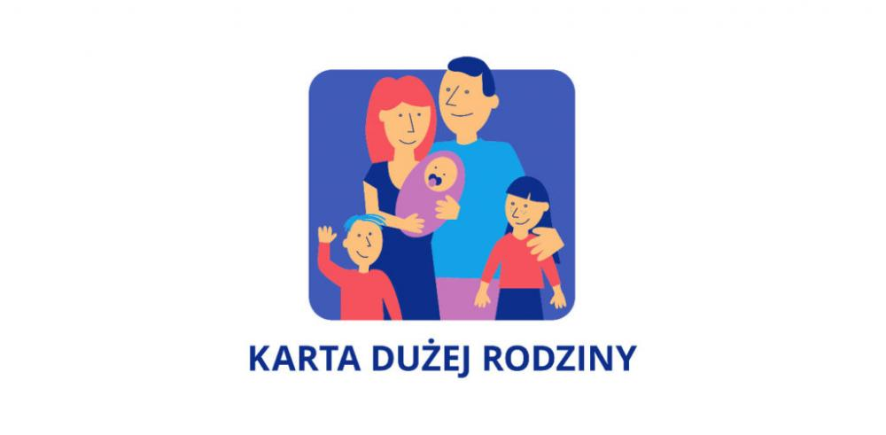 plakat karty dużej rodziny