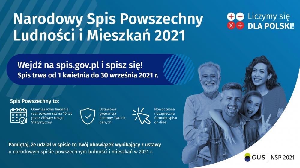 Baner Narodowy Spis Powszechny 2021