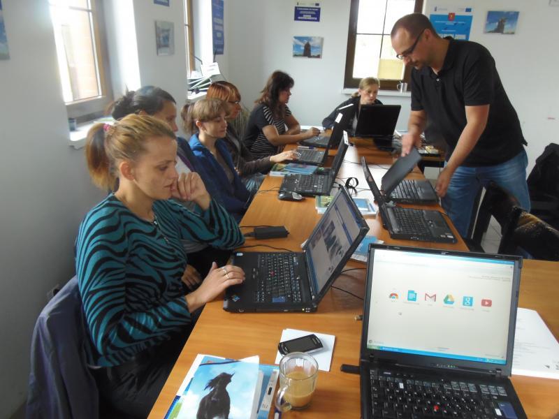 Kurs informatyczny w ramach projektu