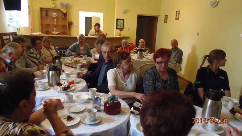 Kolejna wizyta policjanta, tym razem w Klubie Seniora w Mociszkach