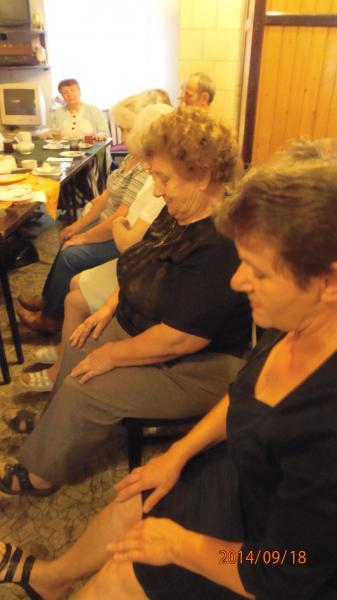 Wizyta pielęgniarki środowiskowej w Klubie Seniora pn. Spokojna Przystań w Krzywiniu