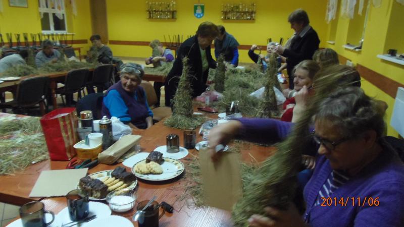 Warsztaty rękodzieła artystycznego w Klubie Seniora w Jurkowie