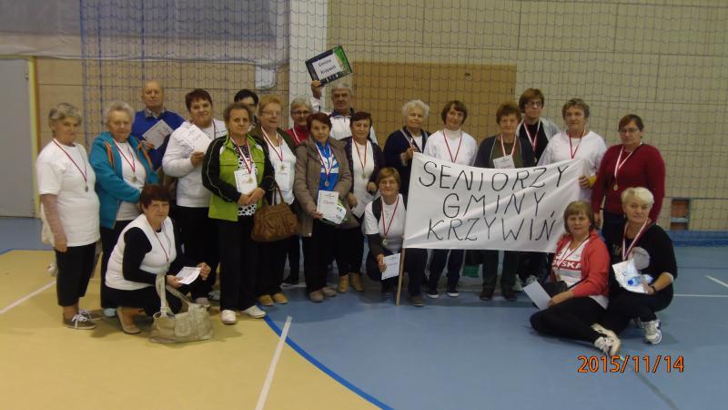 Seniorzy gminy Krzywiń na Igrzyskach III Wieku w Racocie