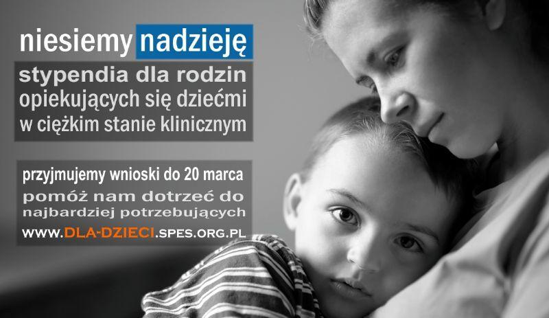 Stypendia dla dzieci w ciężkim stanie klinicznym - nabór wniosków 2016