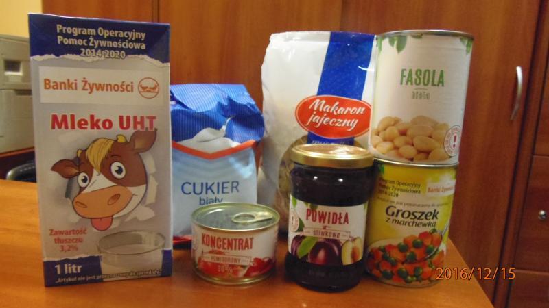 Kolejna żywność w ramach programu Pomoc żywnościowa