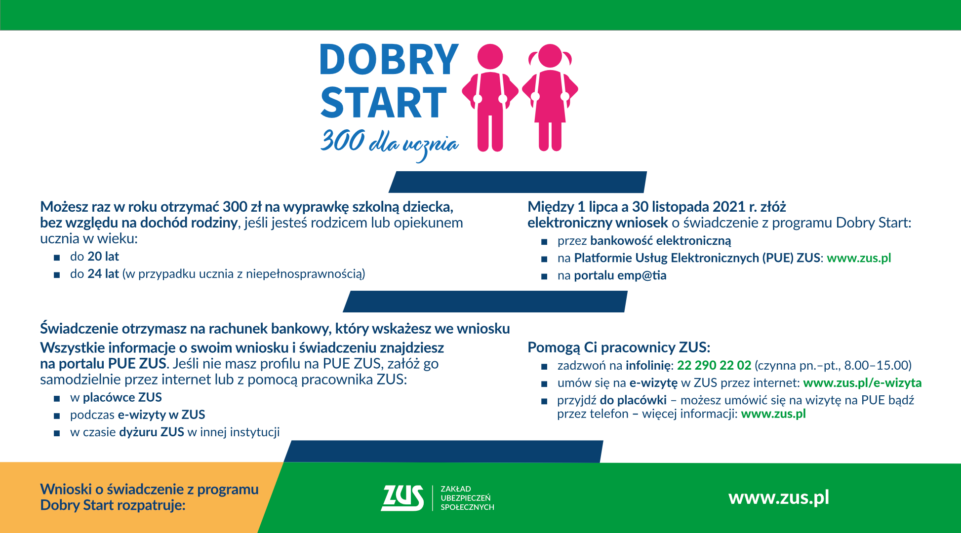 DOBRY START- 300 DLA UCZNIA- INFORMACJA