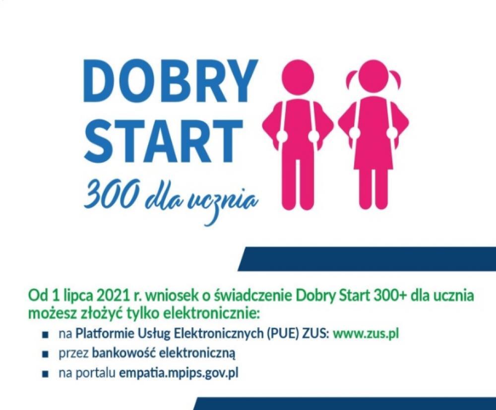 Logo Dobry Start 300 dla ucznia