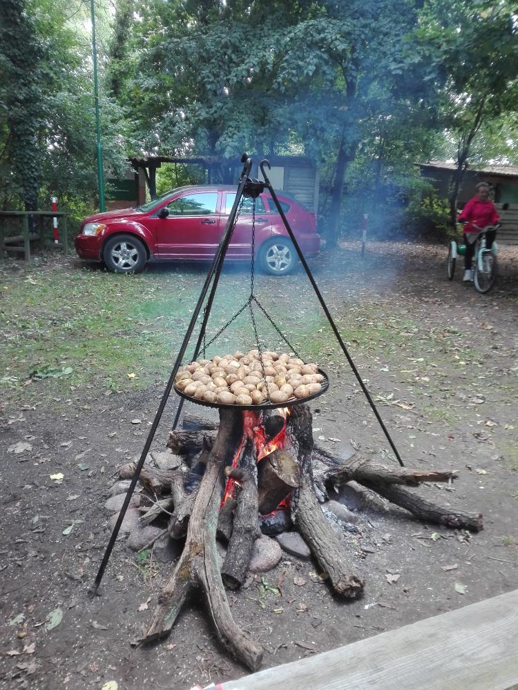 Zdjęcie pieczenie ziemniaków