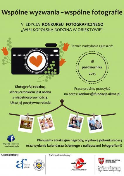 V Edycja Konkursu Fotograficznego Wielkopolska Rodzina w Obiektywie