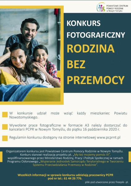 KONKURS FOTOGRAFICZNY - RODZINA BEZ PRZEMOCY