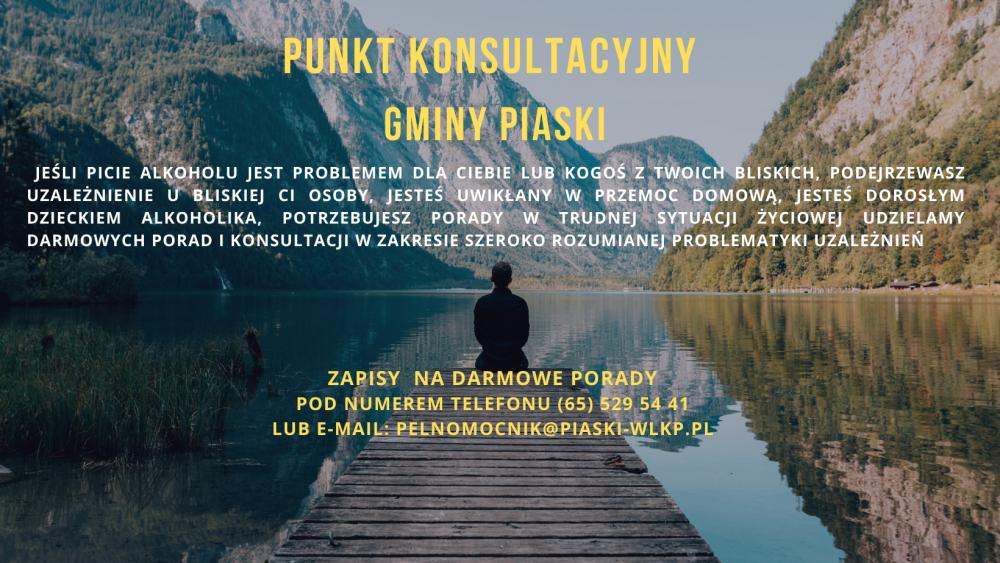 Plakat Punkt konsultacyjny gminy Piaski