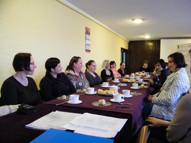 Zdjęcie z spotkania z uczestnikami/uczestniczkami projektu