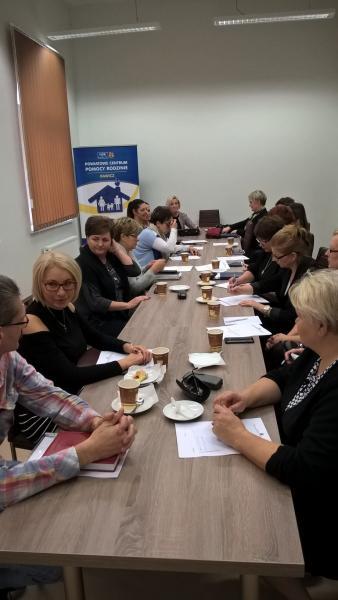 Spotkanie Powiatowego zespołu ds. przeciwdziałania przemocy w rodzinie.