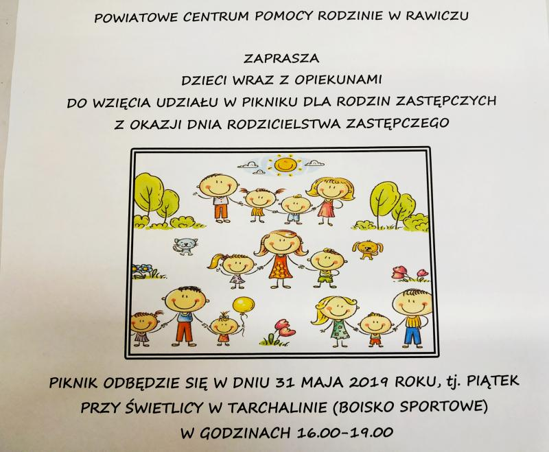 Piknik z okazji Dnia Dziecka i Dnia Rodzicielstwa Zastępczego !