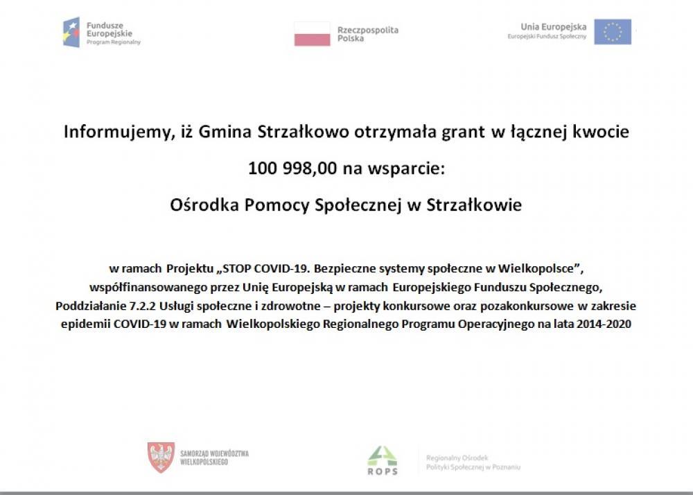 Informacja o powierzeniu grantu