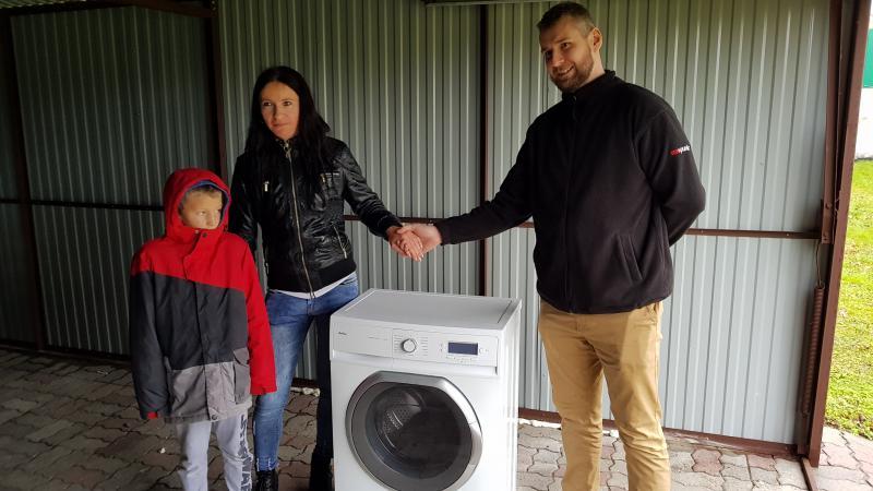 Przekazanie pralki automatycznej
