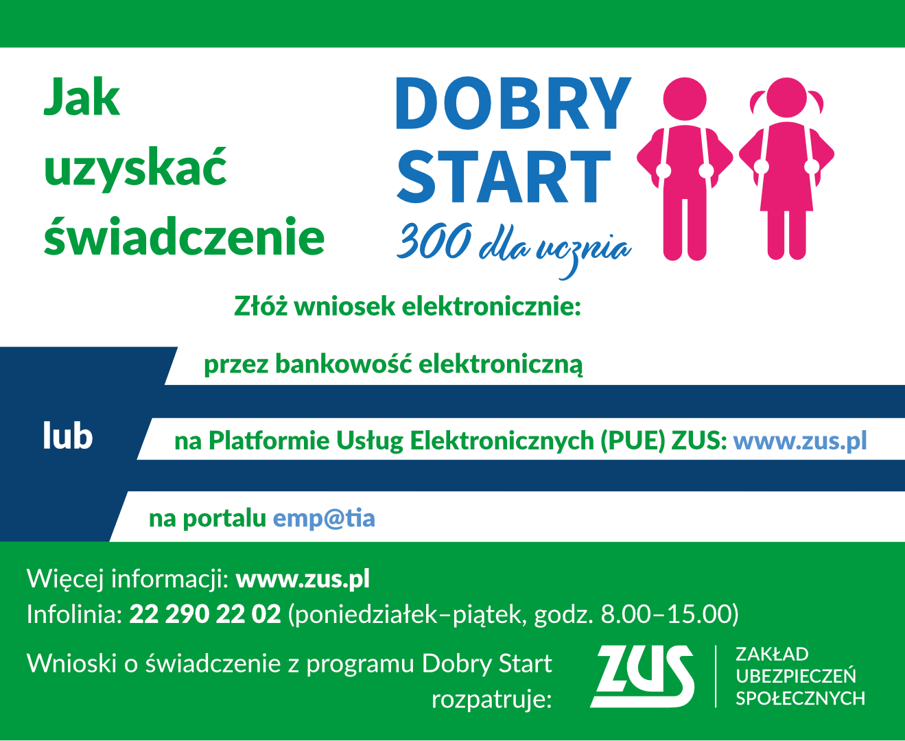 Plakat 300 plus Dobry Start