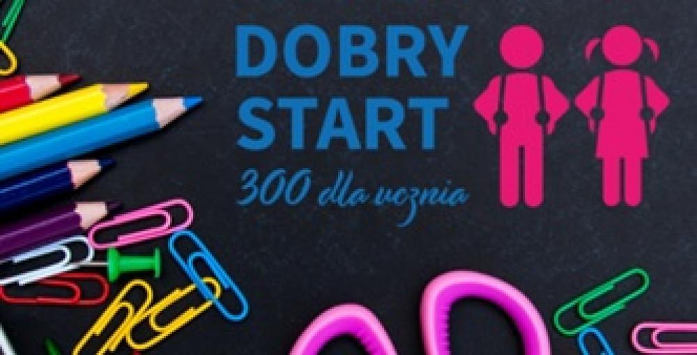 Zdjęcie - logo Dobry start 300 dla ucznia