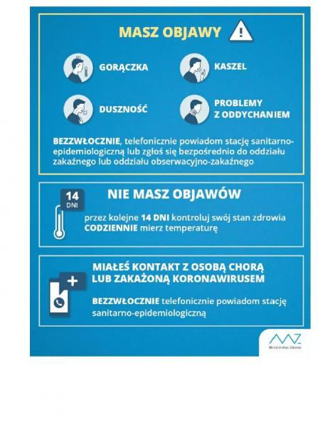 Informacja w sprawie koronawirusa